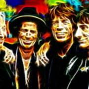 Rolling Stones Mystical Poster by Paul Van Scott