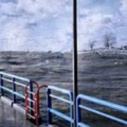 Rolling Waves In Winter At Grand Haven Poster