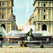 Roma 1900 Piazza Di Termini Poster