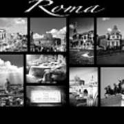 Roma Black And White Poster Poster