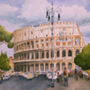 Roman Holiday- Colosseum Poster