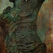 Roman Hunter Statue Torso Left Poster