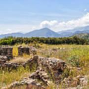 Roman Villa Ruins At Makry Gialos Poster
