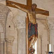 Romanesque Abbey Crucifix Poster