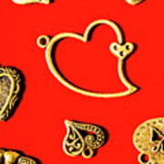 Romantic Heart Decorations Poster