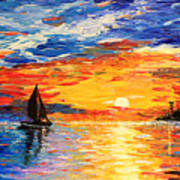 Romantic Sea Sunset Poster