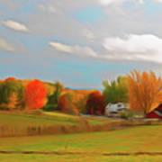 Romantic Skies Autumn Farm Poster