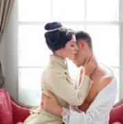 Romantic Victorian Couple Poster