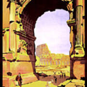 Rome, Italy, Rome Express Railway Poster