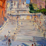 Rome Piazza Di Spagna Poster