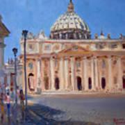 Rome Piazza San Pietro Poster