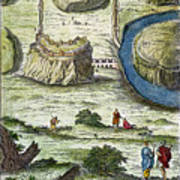 Rome: Seven Hills, 18th C Poster