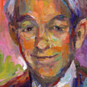 Ron Paul Art Impressionistic Painting  Poster