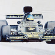 Ronnie Peterson - Lotus 76 Poster