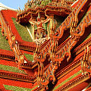 Roof Of Buddhist Temple In Thailand Poster