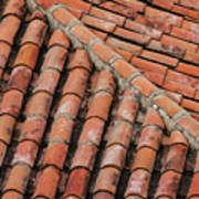 Roof Tiles And Mortar  Poster