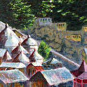 Roof Tops Of Gangotri Poster