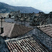 Roofs Of Dubrovnik Poster