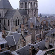 Rooftops Of Blois In France 2 Poster