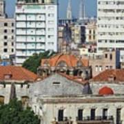 Rooftops Of Old Town Havana Poster