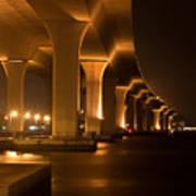 Roosevelt Bridge At Night Poster