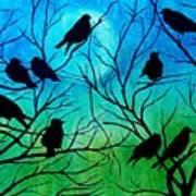 Roosting Birds Poster