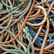 Rope Background Poster by Carlos Caetano