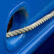 Rope Exiting Through The Bright Blue Poster