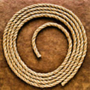 Rope On Leather Poster