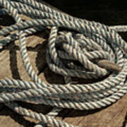 Rope On The Dock Poster
