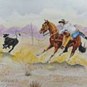 Ropin' A Dogie Poster