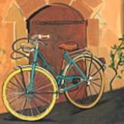 Rose And Bicycle Poster