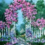 Rose-covered Trellis Poster