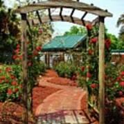Rose Garden Entrance Poster