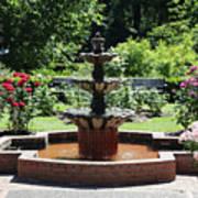 Rose Garden Fountain Poster