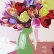 Rosemary's Tulips Poster