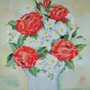Roses And Daises Poster