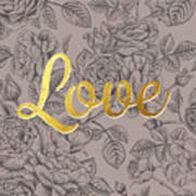 Roses For Love Poster by BONB Creative