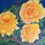 Roses In Yellow Poster