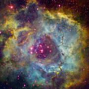 Rosette Nebula Ngc 2244 In Monoceros Poster