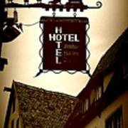 Rothenburg Hotel Sign - Digital Poster