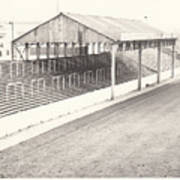 Rotherham - Millmoor - Millmoor Lane Stand 1 - Bw - April 1970 Poster