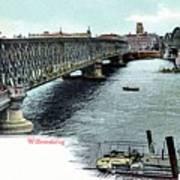 Rotterdam Oude Willemsbrug 1890 Poster