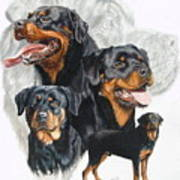 Rottweiler W/ghost  Poster