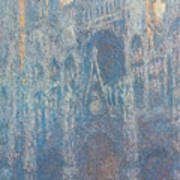 Rouen Cathedral, The Portal, Morning Light Poster