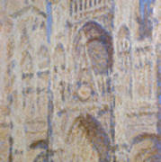 Rouen Cathedral, The Portal, Sunlight Poster