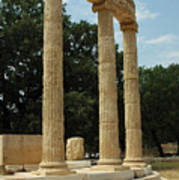Round Temple At Olympia Poster