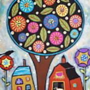 Round Tree Poster by Karla Gerard