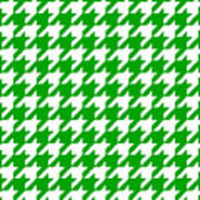 Rounded Houndstooth White Pattern 09-p0123 Poster