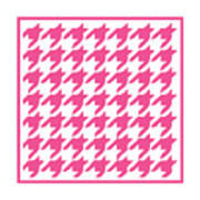 Rounded Houndstooth With Border In French Pink Poster
